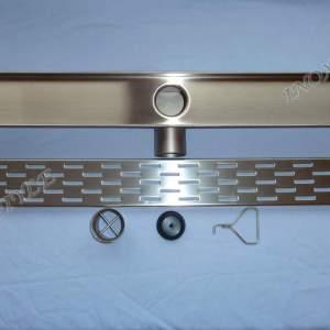 Лентов сифон/изцяло метален/ с решетка правоъгълници 1085х80х80 мм.