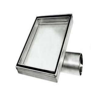 Подов сифон за плочка 10х10 изцяло метален