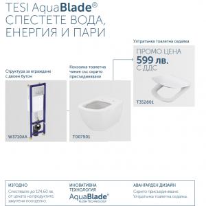 TESI Aquablade  -WC Комплект за вграждане- IDEALSTANDARD