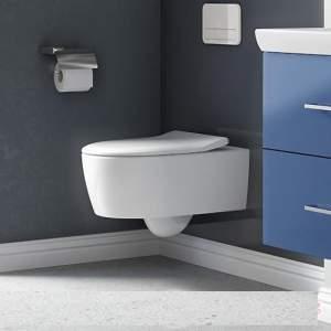 Тоалетна чиния AVENTO- Villeroy & Boch с бавно падащ капак   5656RS01