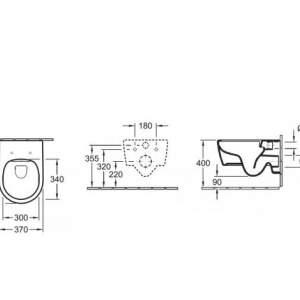 Тоалетна чиния AVENTO- Villeroy & Boch с бавно падащ капак