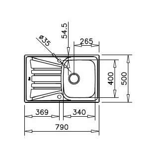 Кухненска мивка BASICO 79 1C 1E / TEKA