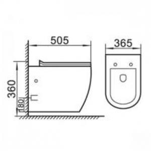 Конзолна тоалетна чиния М-103 /rimless i soft close – ултра тънка дъска /