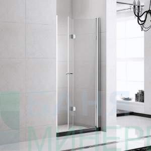 Душ параван (сгъваем , прозрачно закалено стъкло) 80х190 – модел 6062 B