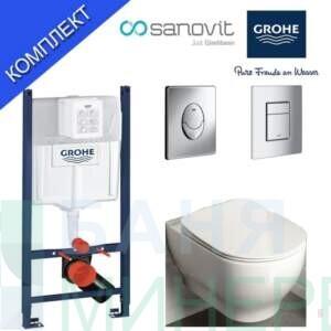 Grohe Rapid SL + Garcia 1 Структура за вграждане  и висяща тоалетна чиния
