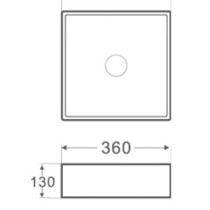 ESPE SA 1257 -мивка върху плот 36 см