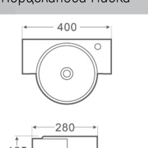 ESPE SA 1414 -мивка върху плот 40 см