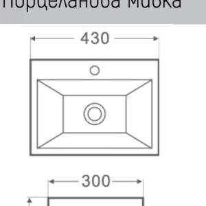 ESPE SA 1431 -мивка върху плот 43 см
