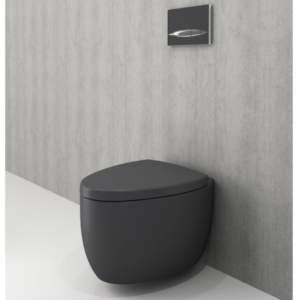 BOCCHI Etna сиво-антрацит мат – конзолна тоалетна чиния