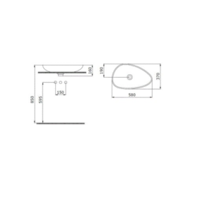 BOCCHI Etna сиво-антрацит мат – мивка купа 58 см