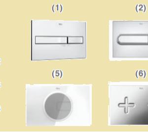 ROCA Окачена тоалетна GAP SQUARE RIMLESS+Структура и бутон DUPLO