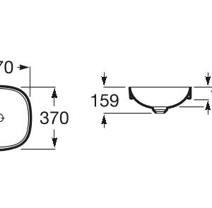 ROCA INSPIRA SOFT A32750R000 37 см Мивка за полувграждане в плот