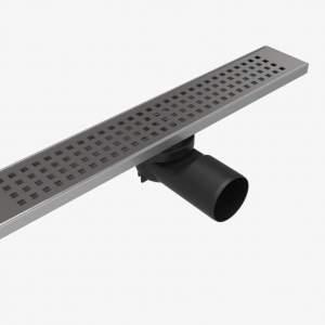 Линеен сифон 40 см-Серия PB решетка на квадратчета с клапа против миризми