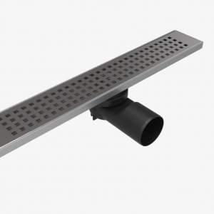 Линеен сифон 60 см – Серия PB – решетка на квадратчета с клапа против миризми