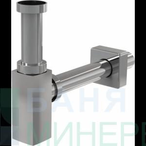 Alcaplast  DESIGN Сифон за мивка квадратен A401 метал хром