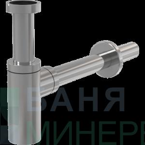 Alcaplast DESIGN Сифон за мивка с овално тяло A400 метал хром