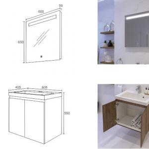 DENVER TRIANO мебел за баня-комплект