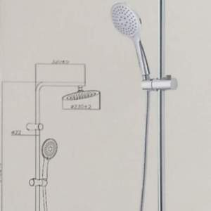 Gedy-G-Easy душ колона с термостат