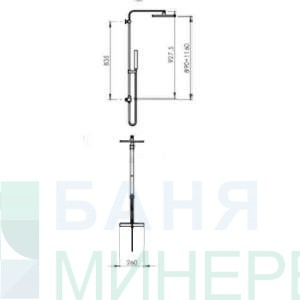 Gedy-G-Star 10301 квадратна душ колона с термостат