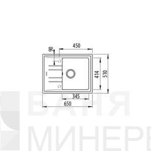 STONE 45 S-TG ЧЕРЕН МЕТАЛИК Гранитна мивка TEKA