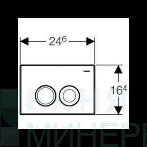 GEBERIT DELTA 21 Бял бутон за активиране на казанче 115.125.11.1