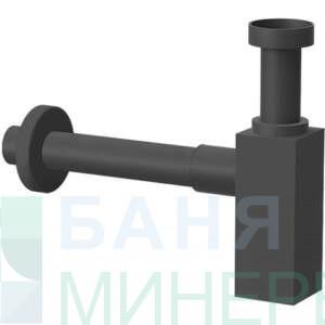 Декоративен квадратен сифон ЧЕРЕН МАТ PONSI