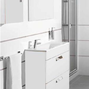 DEBBA COMPACT Шкаф с мивка 60 см. 2 чекмеджета Бял гланц 851564806